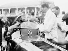 ERA R1B Billy Cotton at the wheel in Brooklands Paddock circa 1938
